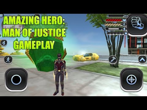 Amazing Hero: Man of Justice Gameplay (iOS, Android)