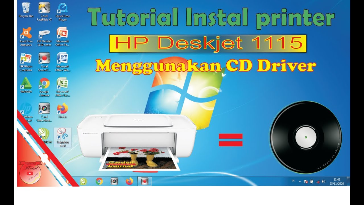 Tutorial Instal Mengunakan Cd Driver Printer Hp Deskjet 1115 Youtube