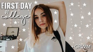 First Day Of College Vlog/GRWM [+ Work With Me!]