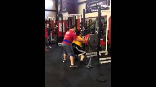 Varsity House Gym - Coach Mike 405 + 2 Chains Front Squats