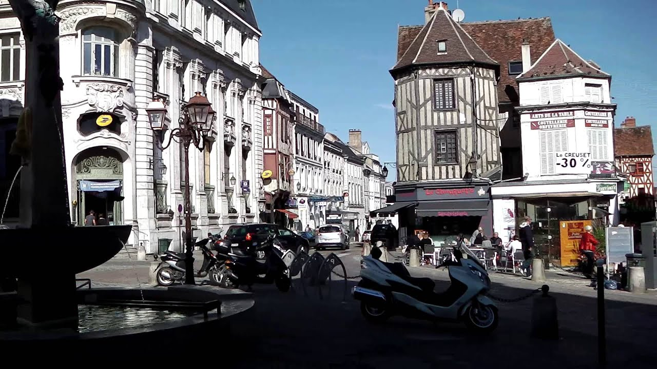 city centre auxerre france youtube