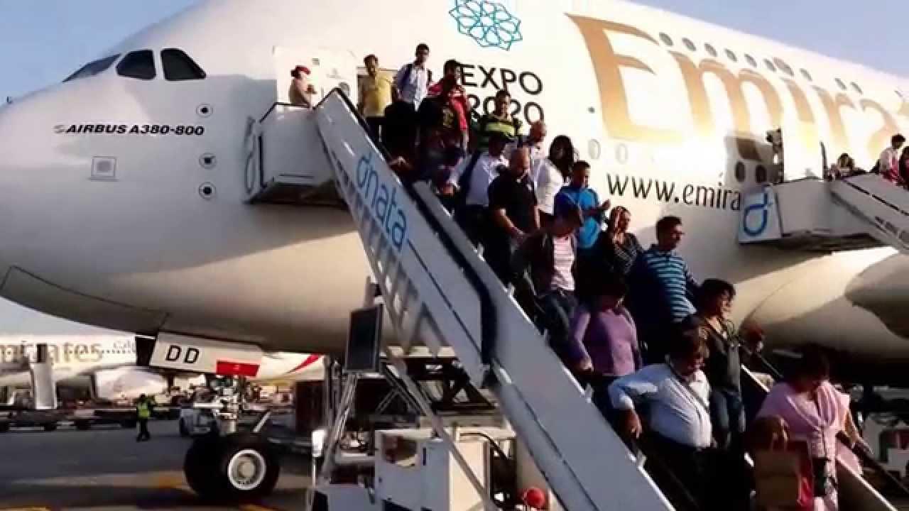 Mumbai to San Francisco via Dubai Emirates A 380 Economy Class
