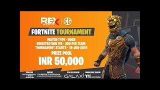 50K Tourney Viewing Party | Fortnite India | Code BoomHeadshot1G | 1TAP