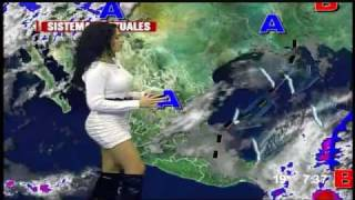 نشرة جوية ساخنة من المكسيك  sexy weather broadcast