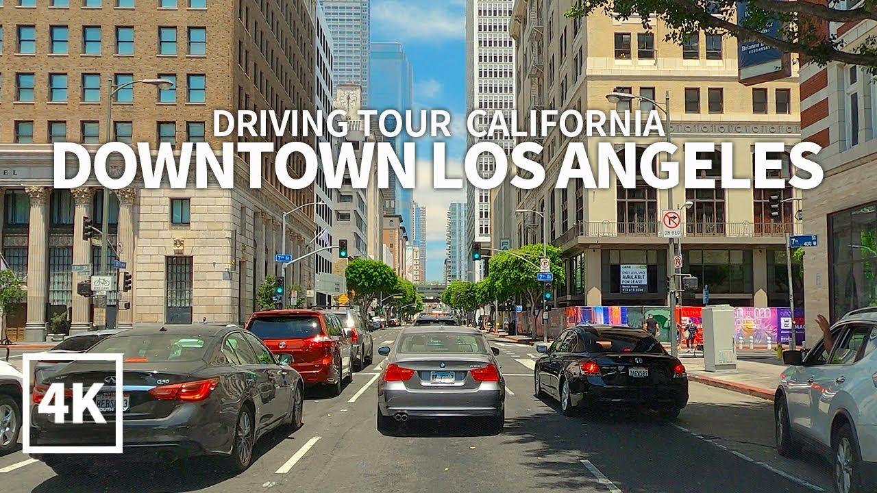 [4K] LOS ANGELES - Driving Downtown Los Angeles DTLA (Alameda, Little Tokyo, Olive) California