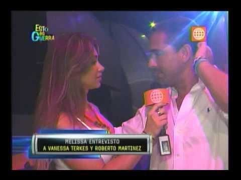 Esto es Guerra: Entrevista de Melissa a Roberto Martínez y Vanessa Terkes - 22/01/2013