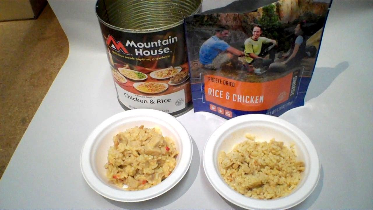 Review: Military Chicken And Rice Can By Mountain House