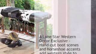 Boot Bench With Cowhide - Lonestarwesterndecor.com