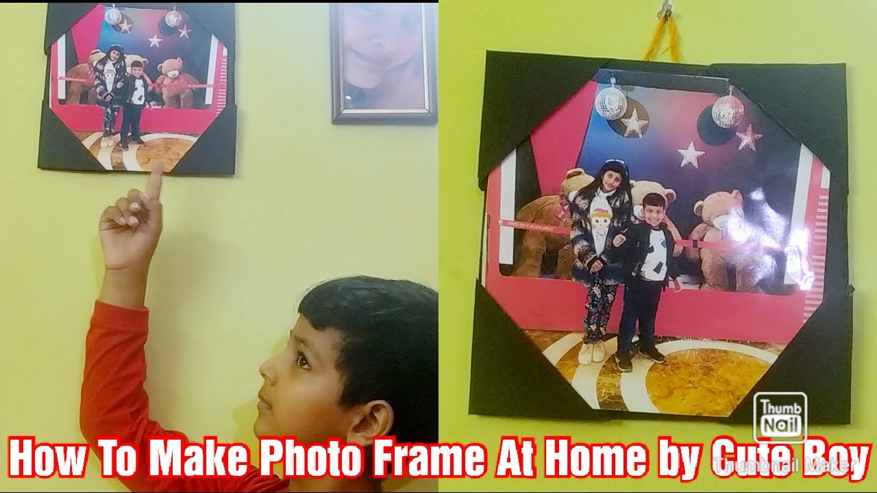 How To Make A Easy Photo Frame At Home ll photo frame tutorial ll step by step
