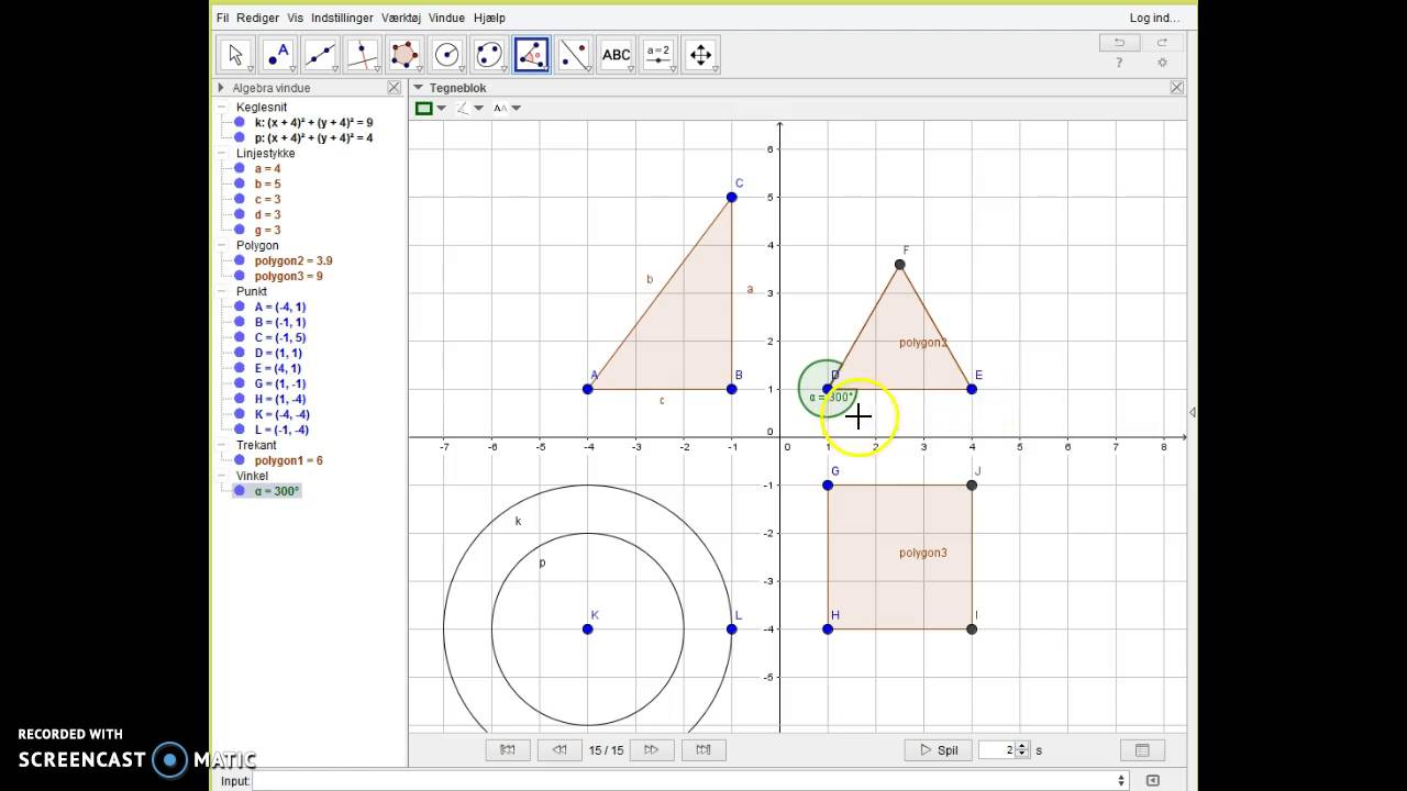 GeoGebra introvideo - Trin 2