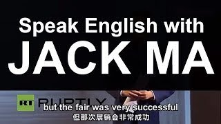 Learn English with Jack Ma Speech Jack Ma in Germany How to speak English