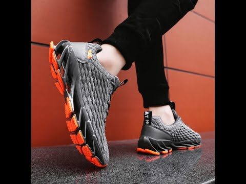 2020 Sneakers Knit Upper Breathable High Top Men Sport Running Shoes