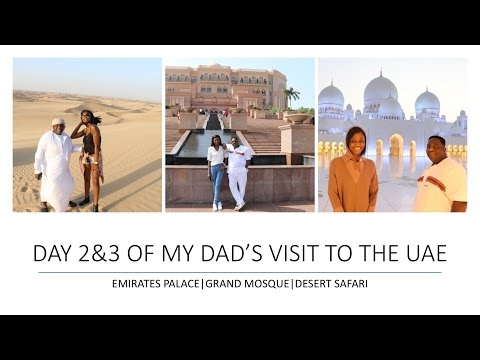 VLOG 1 || PART 2  EMIRATES PALACE| GRAND MOSQUE| DESERT SAFA