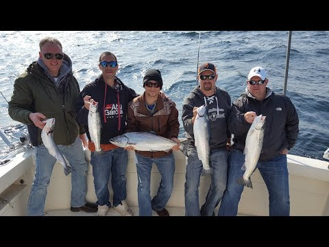 Lake Michigan King Salmon Fishing - Algoma, WI 2017