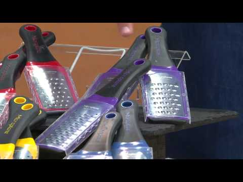 Microplane 3-piece Artisan Fine, Ribbon, & Extra Course Graters/Zesters with David