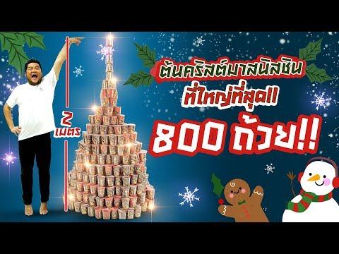 ต้นคริสต์มาสนิสชิน 800 ถ้วย!! สูงที่สุดถึง 2 เมตร!! - วันที่ 12 Dec 2018
