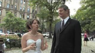 New York couple's piano wedding