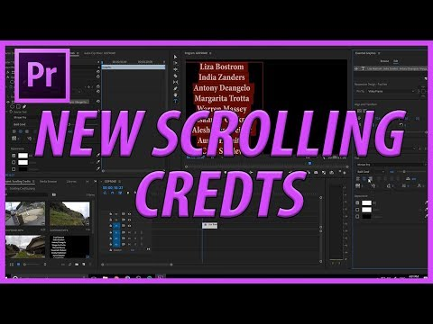 How To Create Scrolling Credits With Adobe Premiere Pro CC 2018 With The New Roll Feature