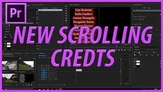 Yeni Roll Özelliği ile 2018 CC Adobe Premiere Pro ile Kaydırma Kredi Oluşturma