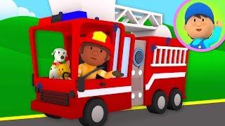 Fire Truck Car Wash! - Carl
