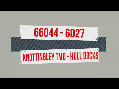 Class 66 Cab Ride DB Schenker 66044 6D27 Knottingley TMD to Hull King George Docks HD