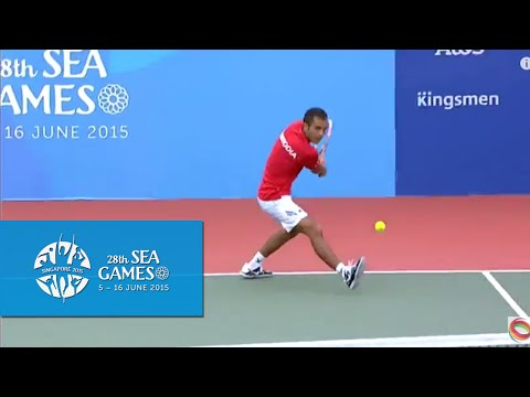 Tennis (Day 7) | Men's Open Indonesia vs  Cambodia  28th SEA Games Singapore 2015