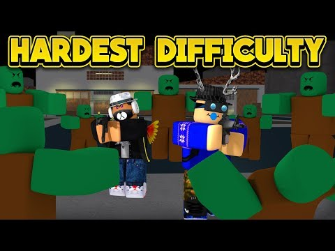 HARDEST DIFFICULTY WAVE SURVIVAL! (ROBLOX Zombie Attack)