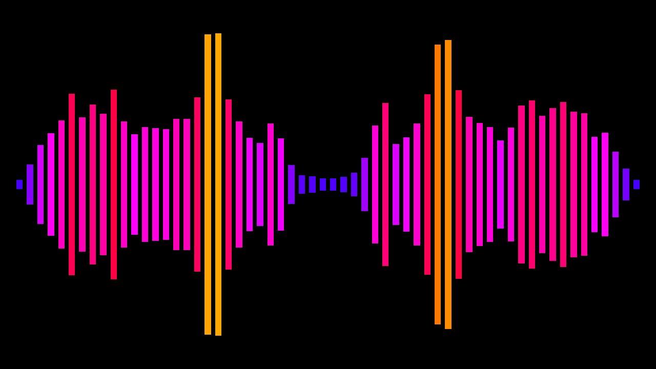 music spectrum visualizer magic band demo