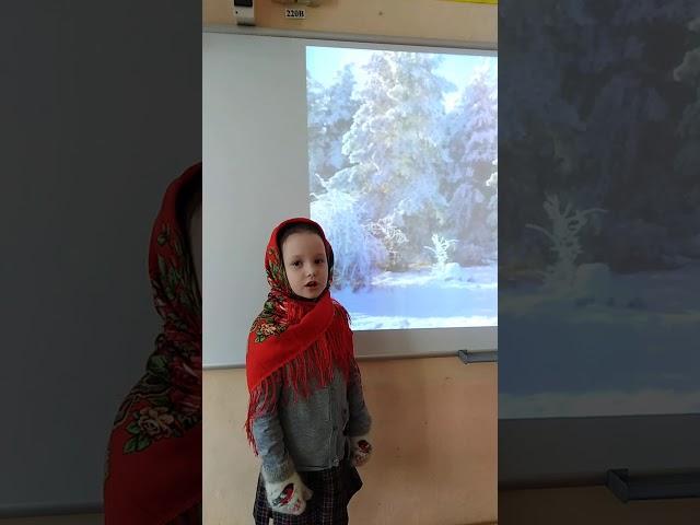Изображение предпросмотра прочтения – МарияКавалерова читает произведение «Чародейкою Зимою…» Ф.И.Тютчева