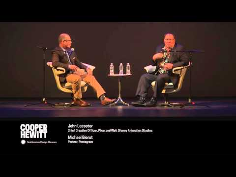 Pixar's John Lasseter in Conversation with Michael Bierut (1 of 2)