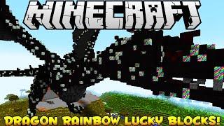 Minecraft DRAGON RAINBOW Lucky Blocks Mod (Modded Minigame) PVP Challenge