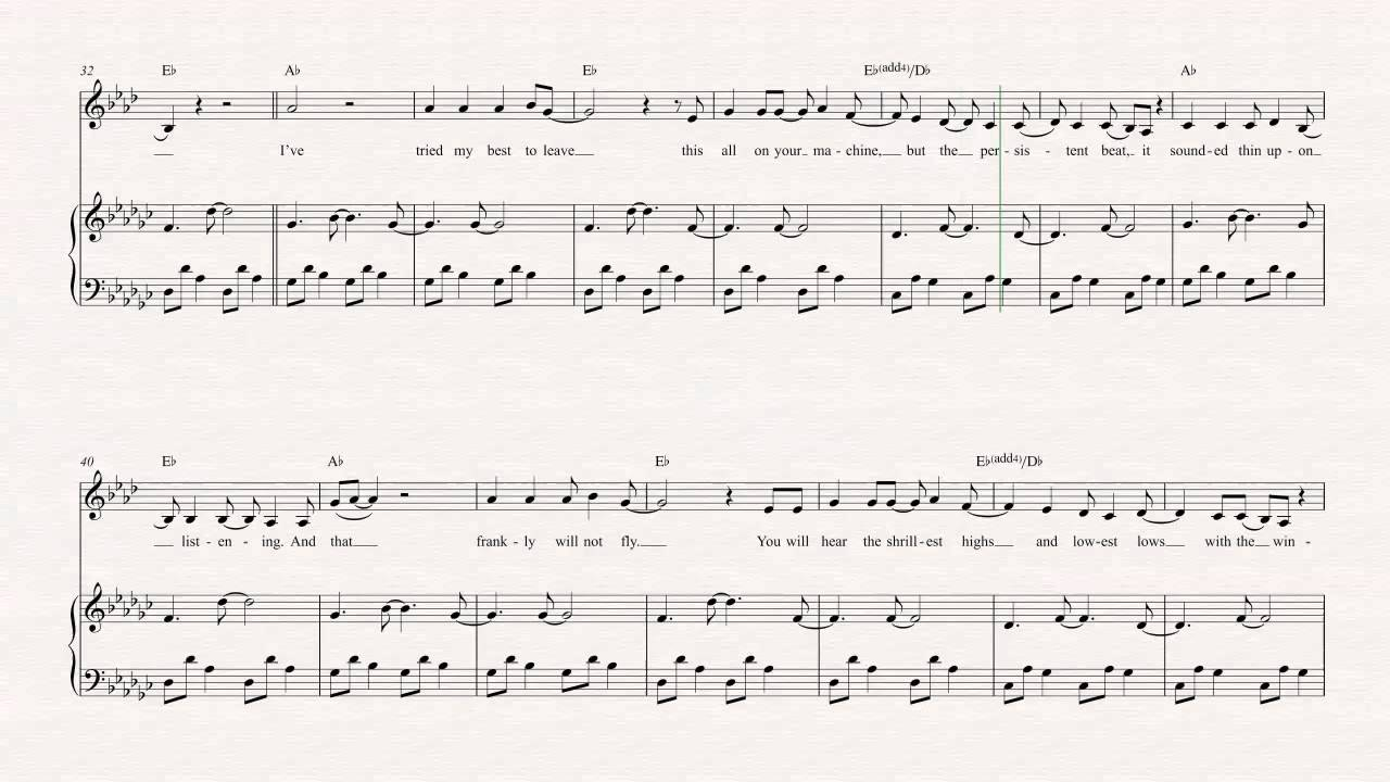 Clarinet Such Great Heights Iron And Wine Sheet Music Chords