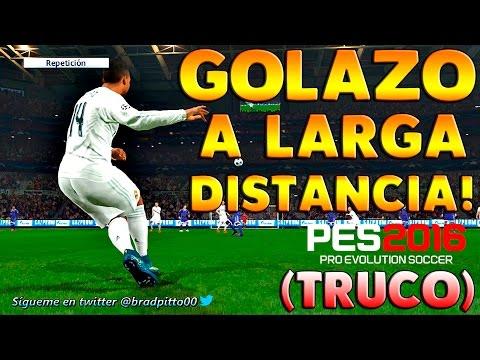 PES 2016 | TRUCO - COMO MARCAR GOL DE FALTA A LARGA DISTANCIA!.
