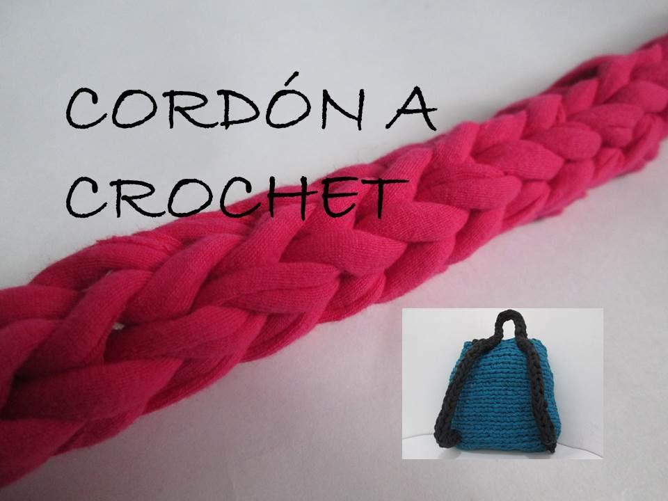 Cord n a crochet ganchillo trapillo paso a paso youtube - Como hacer bolsos tejidos ...