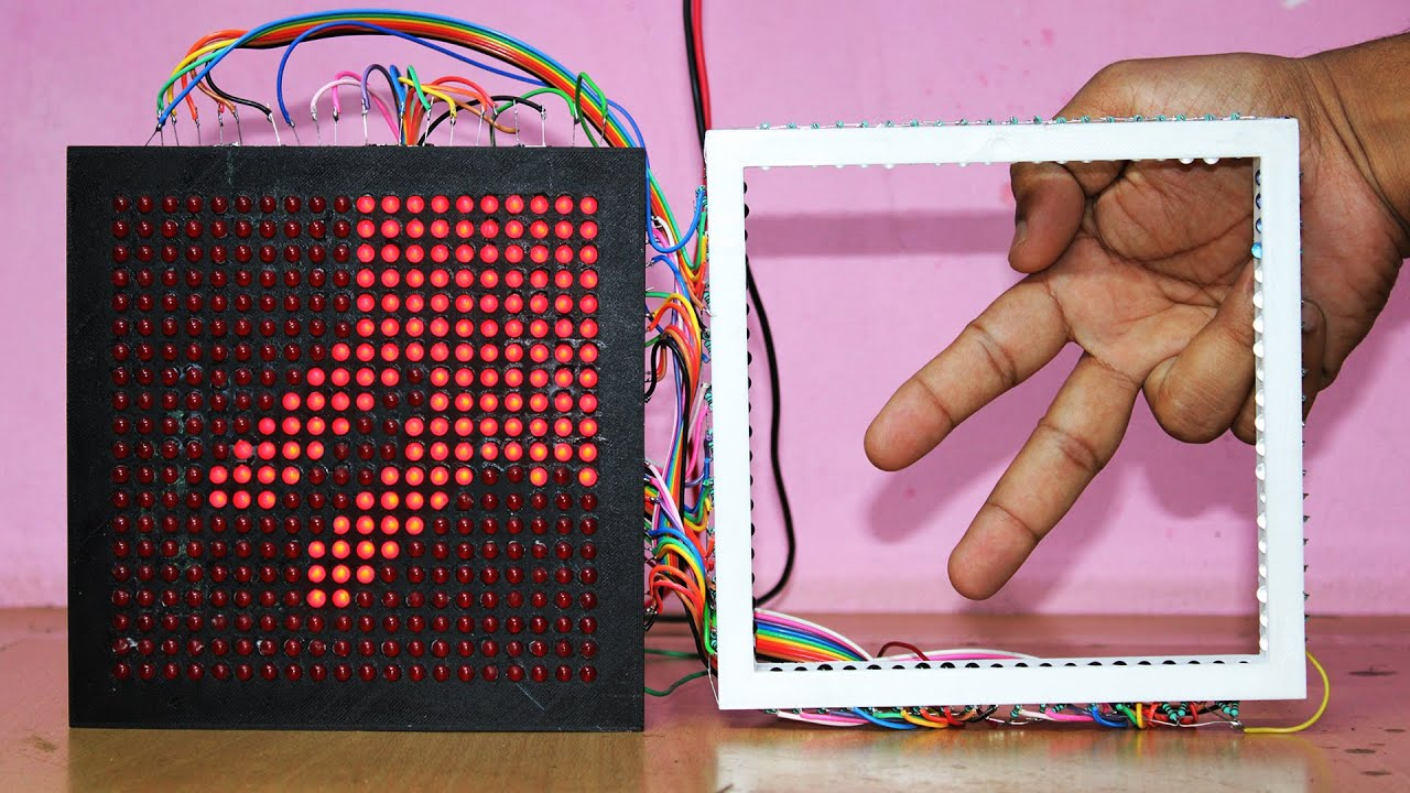 how to make touch screen display easy way using IR