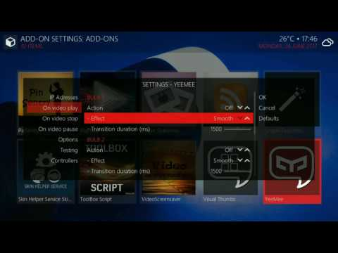 Control Lights from Kodi and Ambilight effect with Yeelight bulbs
