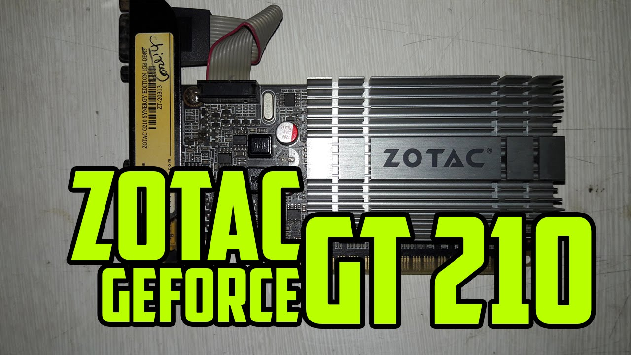 ZOTAC SYNERGY GEFORCE 210 TELECHARGER PILOTE