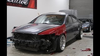 Acura TL Fully Vinyl Wrapped (almost BLEW up my 240sx..)
