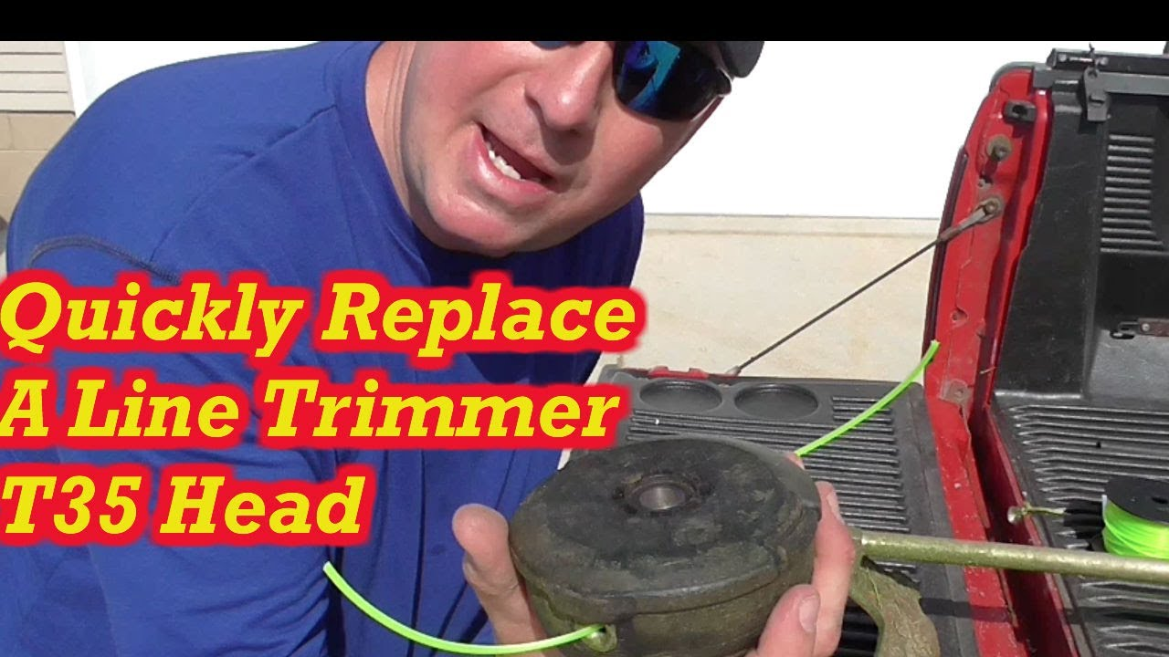How to Change a Husqvarna Line Trimmer Head- T25, T35