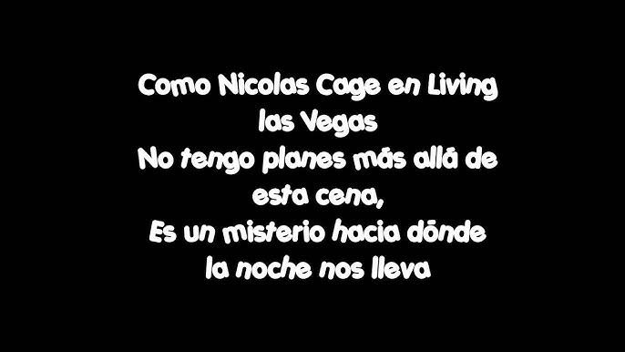 Amaral Como Nicolas Cage Letra Youtube
