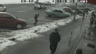 Возгорание автомобиля  Харьков 13.12.2018