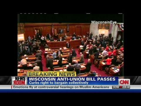 CNN: Wisconsin senate passes anti-union bill