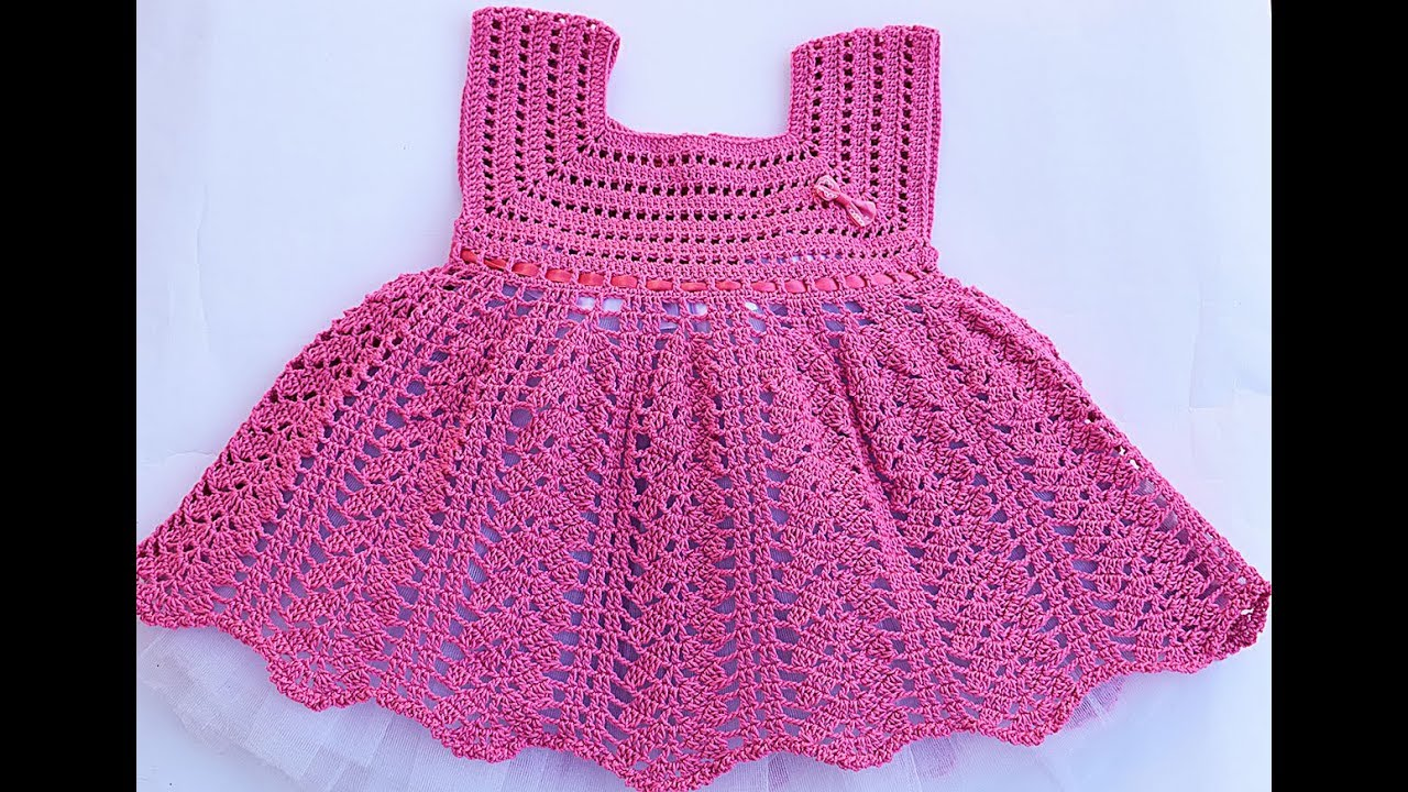 Vestido niña a crochet muy fácil y rápido - YouTube 04dd79ee3049