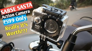 Cheapest Action Camera on Amazon India | ₹600 Action Camera Review in Hindi | Really a Worth Buy ?