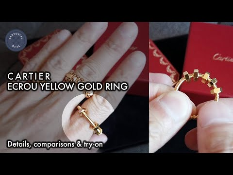 Cartier Ecrou Ring In Yellow Gold: Details, Comparisons And Try-on: Men's Holiday Gift Idea
