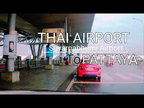Driving  from Suvarnabhumi Airport to Pattaya via Sattahip l Chonburi l Thailand l Drive together
