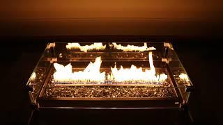テーブルの中からファイアー!内蔵スピーカーから流れる音に反応して炎が上がるそ