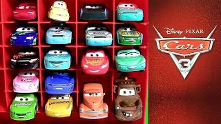 20 Disney CARS 3 DIECASTS Car Toys Smokey Jackson Storm, Tommy Disney Pixar Cars 3 Display Case