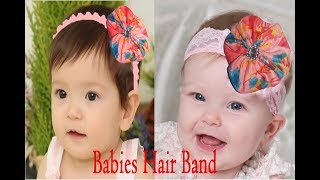 Easy to Make Stamped Elastic Hair Bands || DIY Elegant Baby Bow Headband || كروشيه بندانة للشعر
