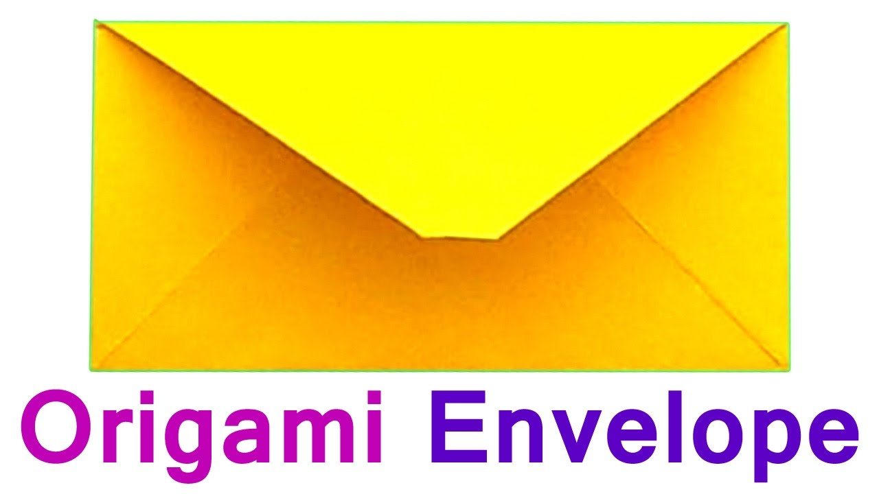 How To Make The Envelope Of Paper A4 Traditional Origami For Beginners